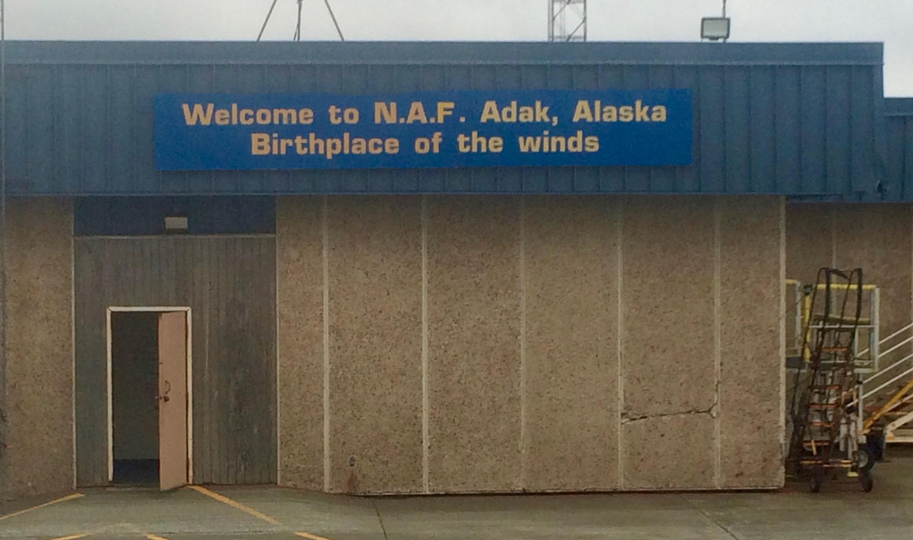 Adak Airport sign