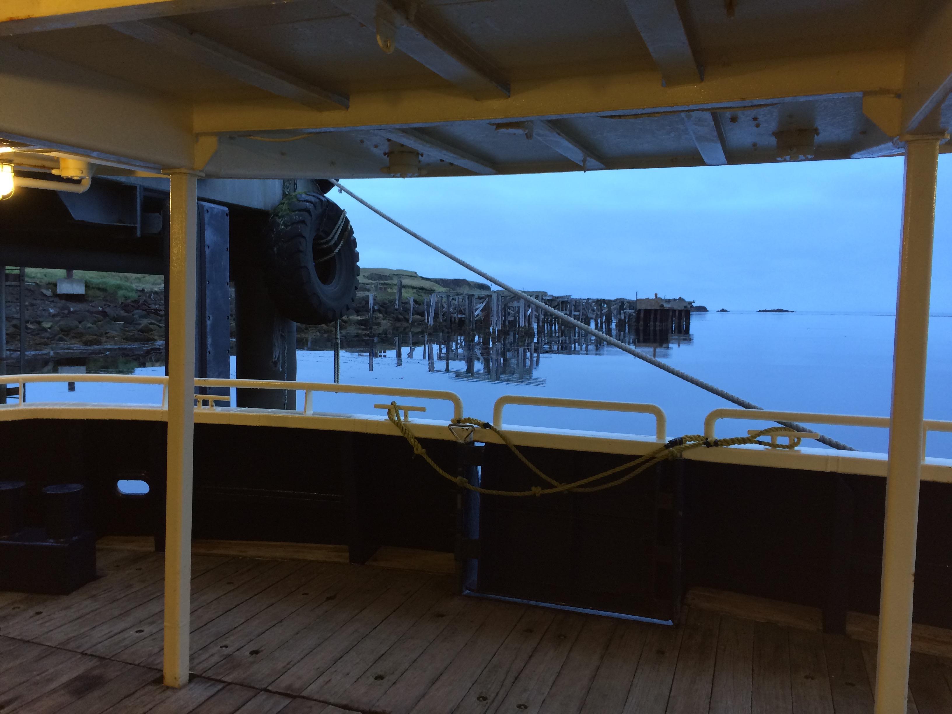 Dock in morning